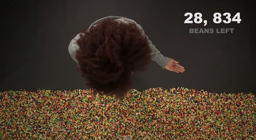 The time we joyfully waste—measured in jelly beans