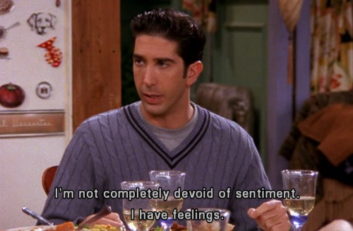 Everything I need to know, I learned from Ross Geller