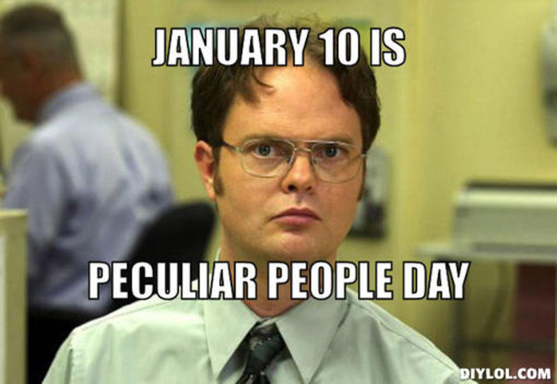 Today is Peculiar People Day! Let's celebrate our wonderful weirdness!