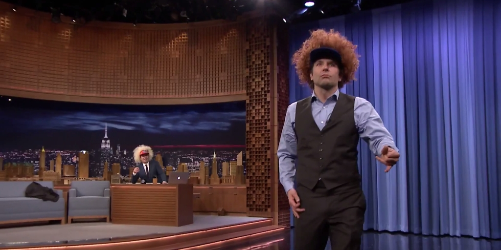 And now we know: Bradley Cooper can shred it on the air guitar