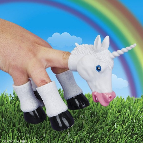 File under things we need in our lives: This majestic unicorn hand puppet