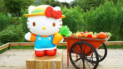 Wait, Hello Kitty has a farm?