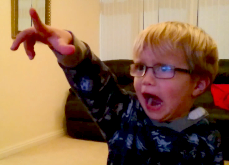 Watch as this 3 year old has his mind blown by watching the opening of Star Wars