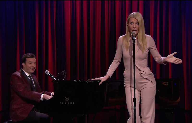 Listen to Jimmy Fallon & Gwyneth Paltrow sing Broadway versions of Drake, Nicki Minaj, and Big Sean!