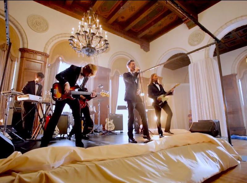 Watch Maroon 5 drive across Los Angeles and crash weddings in their new 'Sugar' video