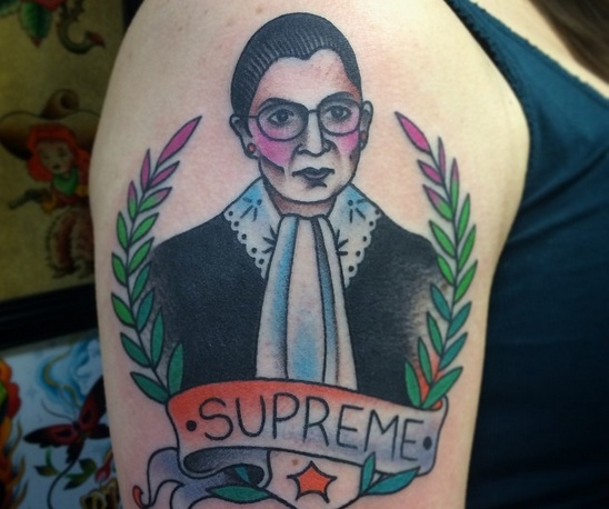 'Supreme' Ruth Bader Ginsburg tattoo is a feminist body art win