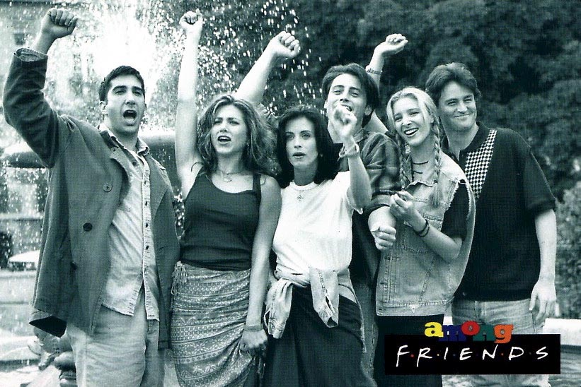 When you remove the music from the 'Friends' intro things get awkward