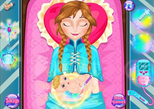 A new game where you give Anna from 'Frozen' a C-section? Things just got really real