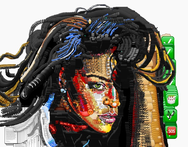 Because it's Friday, celebrity portraits made out of emojis