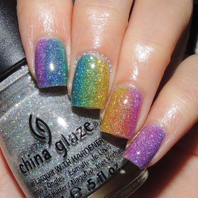 Nails of the Day: Rainbow jelly