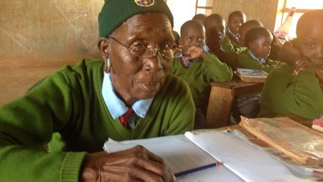 Meet the most inspiring elementary school student in the world. She's 90.