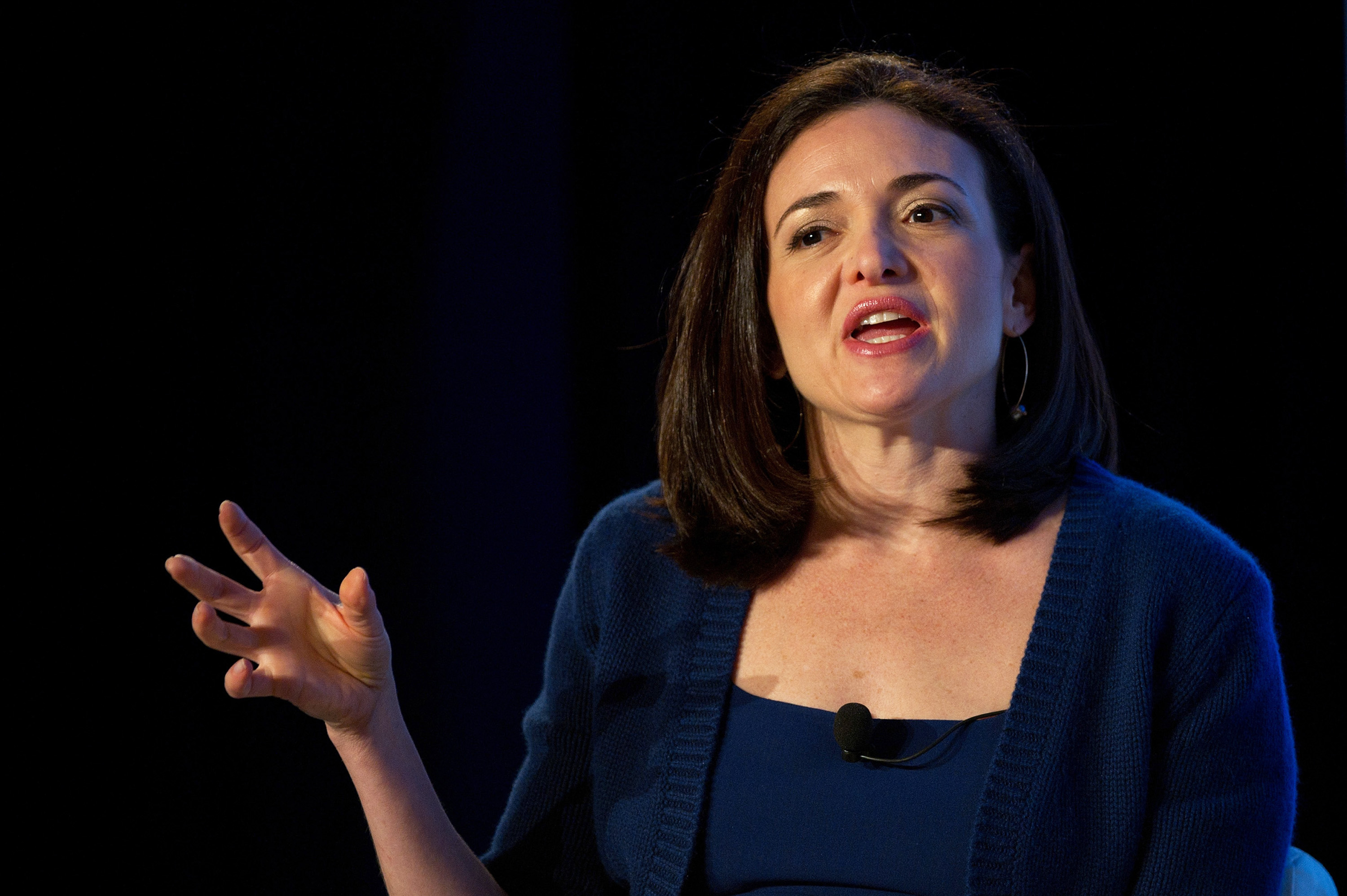 Just Sheryl Sandberg once again dropping some incredibly important lady-tech wisdom
