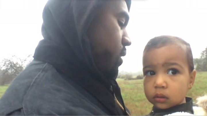 Kanye West's new video with North is everything we love about dads