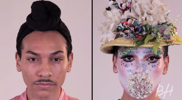 This is the coolest 2-minute makeup transformation we've ever witnessed