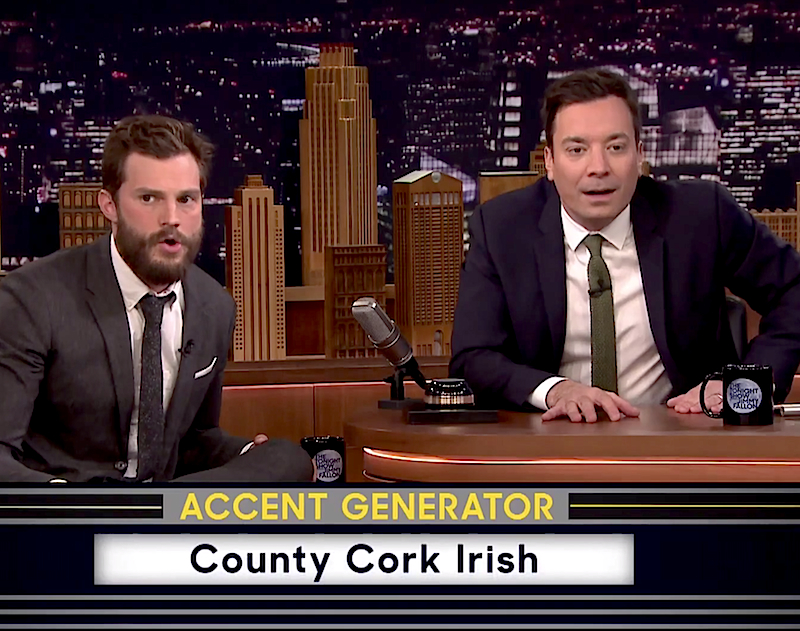 Watch Jamie Dornan and Jimmy Fallon play 'Fifty ACCENTS of Grey'