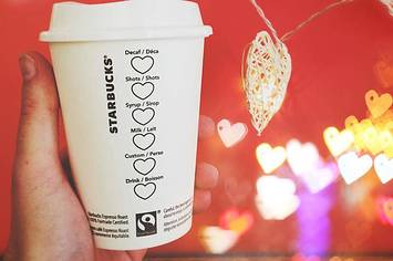 Starbucks has special Valentine's Day cups, and they're adorbs