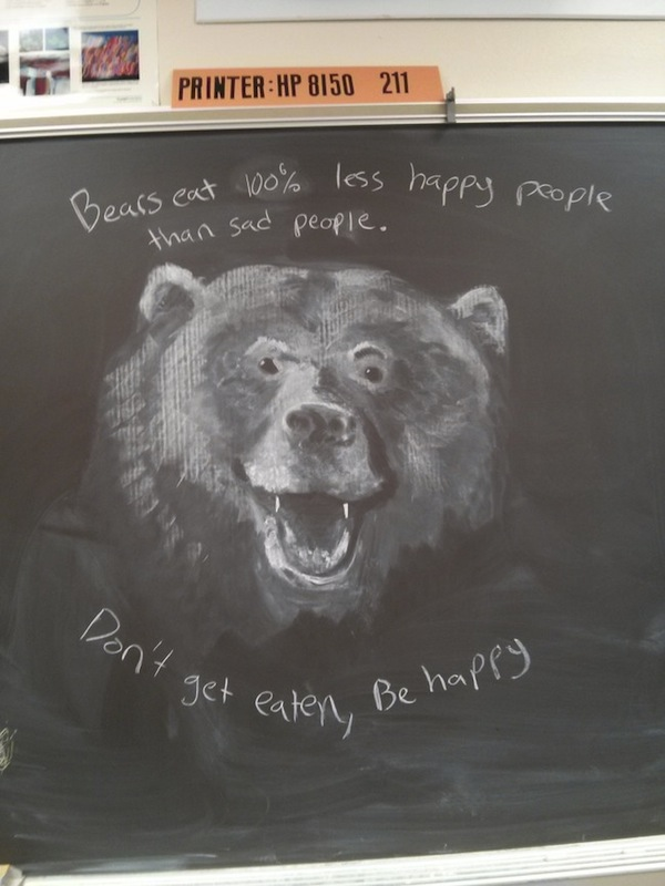 This teacher's chalkboard art masterpieces make us want to go to art school