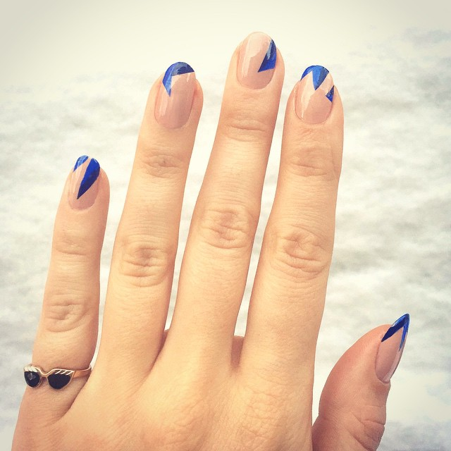 Nails of the Day: Icy shards