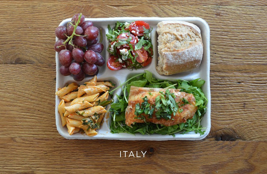 These school lunches from around the world might actually make you crave cafeteria food