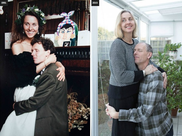 Couples recreate old pictures of themselves and our hearts melt a little bit