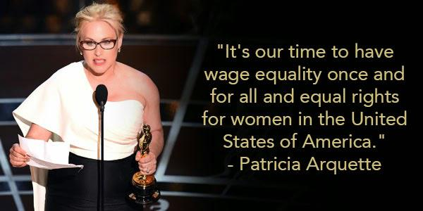Patricia Arquette's Oscar speech on wage equality just won ALL the awards