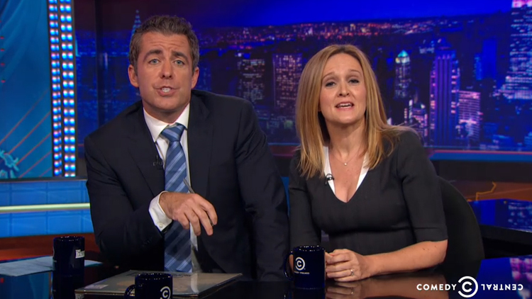 We still have no 'Daily Show' host, but we're PUMPED for Jason Jones and Samantha Bee's new job
