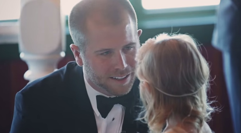 This groom's epic pledge to his tiny stepdaughter makes us happy cry