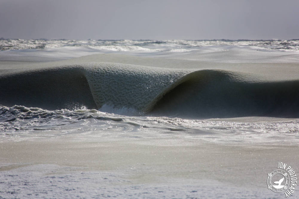 This is what a giant frozen ocean wave looks like #slushiewaves