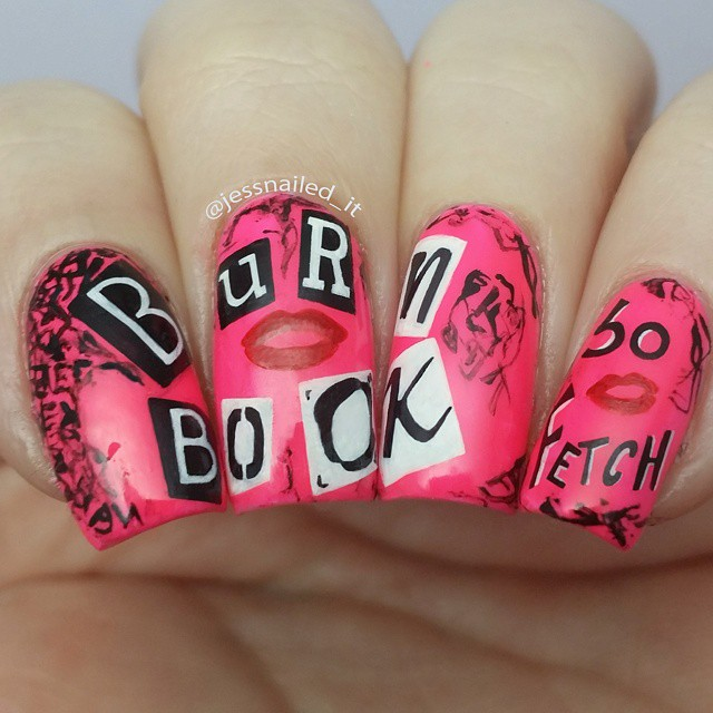 Nails of the day: The burn book