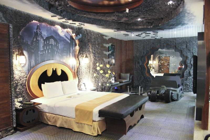 For your next vacation, you might want to stay in this Batman-themed hotel room