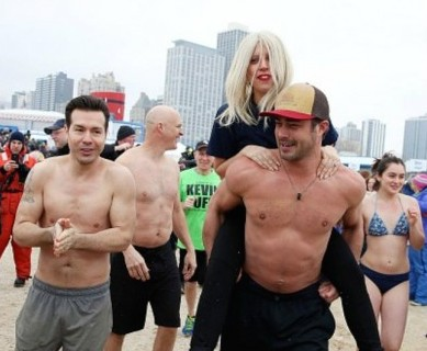 The celebrity polar plunge we only wish we were there for