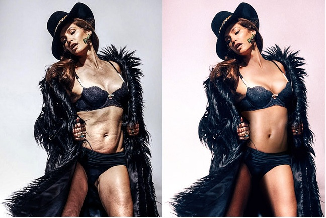 "We need to talk about those allegedly ""unretouched"" Cindy Crawford photos"
