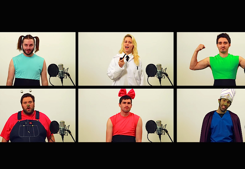This awesome a cappella version of the 'Powerpuff Girls' theme song will get you singing along