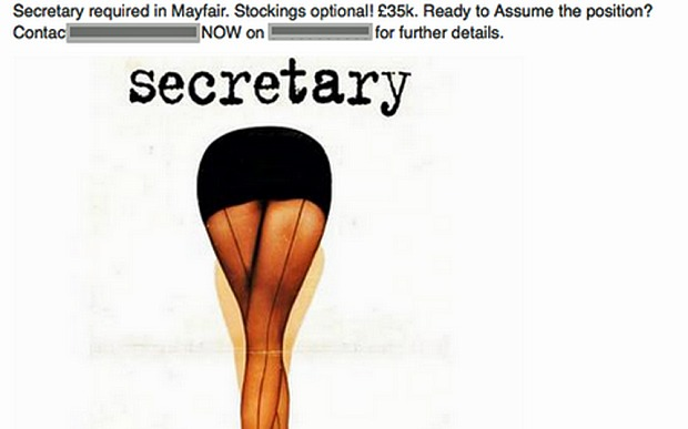 We need to talk about this hyper-sexualized secretary job listing