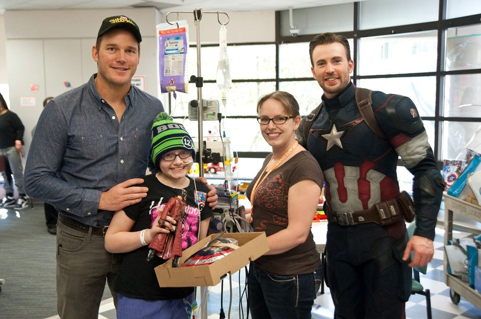 Chris Pratt and Chris Evans are superheroes in real life