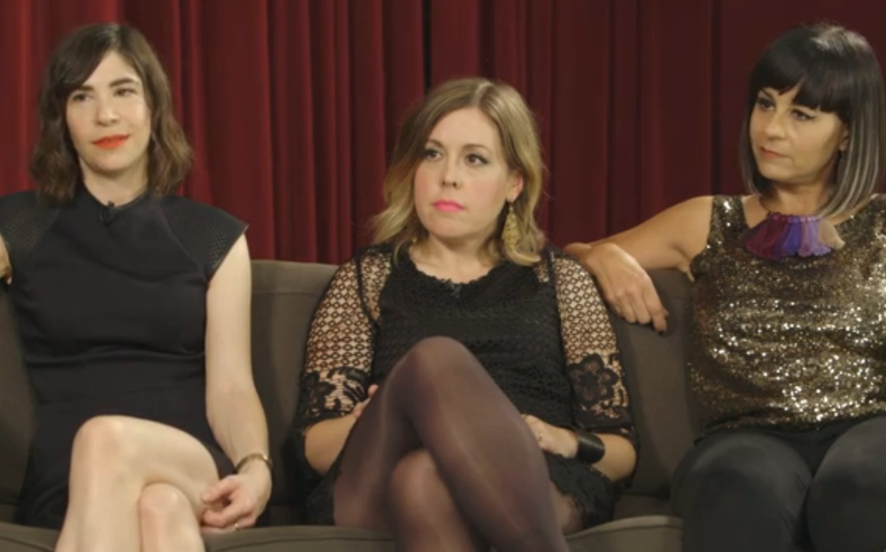 SNL's Vanessa Bayer grills Sleater-Kinney on feminism. Prepare to laugh your brains off.