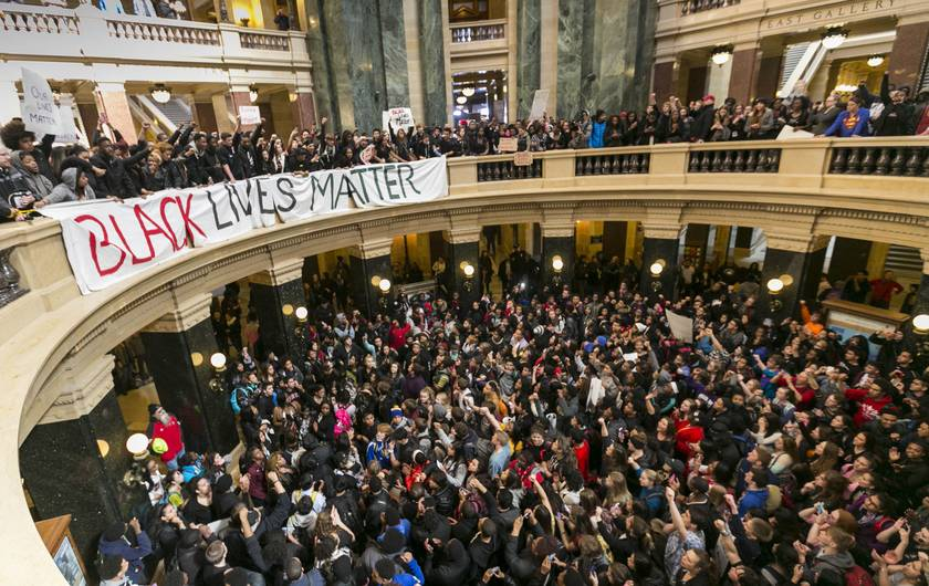 Hundreds of students walked out of school this week because #BlackLivesMatter