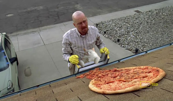 'Breaking Bad' fans are throwing pizza at Walt's house and it's a problem