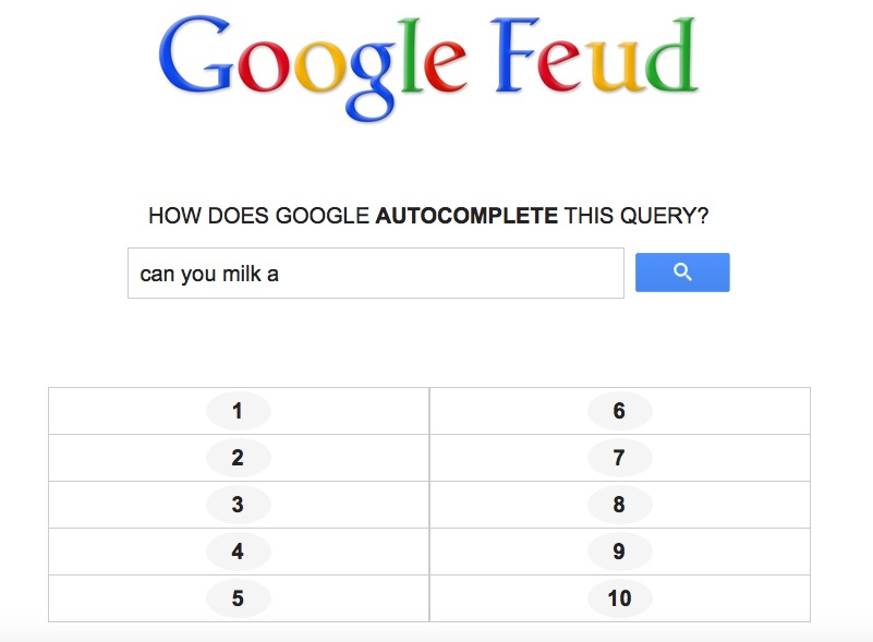 Have you fallen down the Google Feud rabbit hole yet? Cuz we have