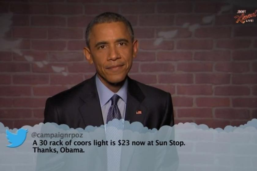 Obama reads mean tweets on 'Jimmy Kimmel.' Yes, you need to see this.