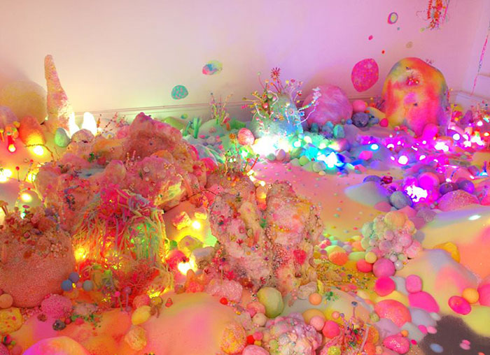 This amazing art installation is basically a candy & glitter dreamworld