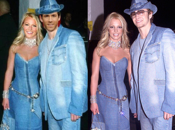 Blake Lively and Ryan Reynolds pull a Britney and Justin. We're in denim heaven.