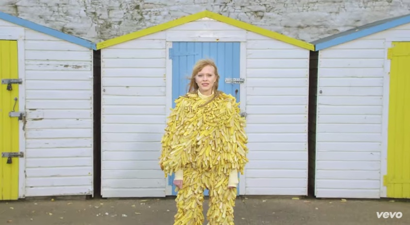 We're transfixed by Lucy Rose's new video—and her French fry suit