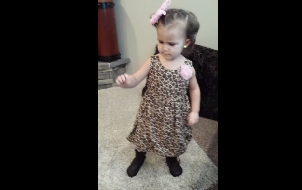 This is a 3-year-old dancing to LL Cool J. Yup we're in love.
