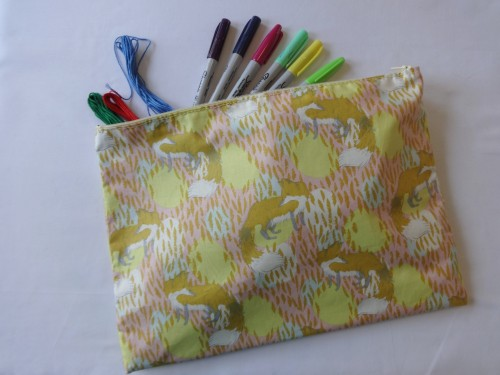 Craft yourself some cute storage by sewing this zippered pouch