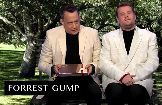 In under 8 minutes, watch Tom Hanks act out scenes from every movie he's starred in!