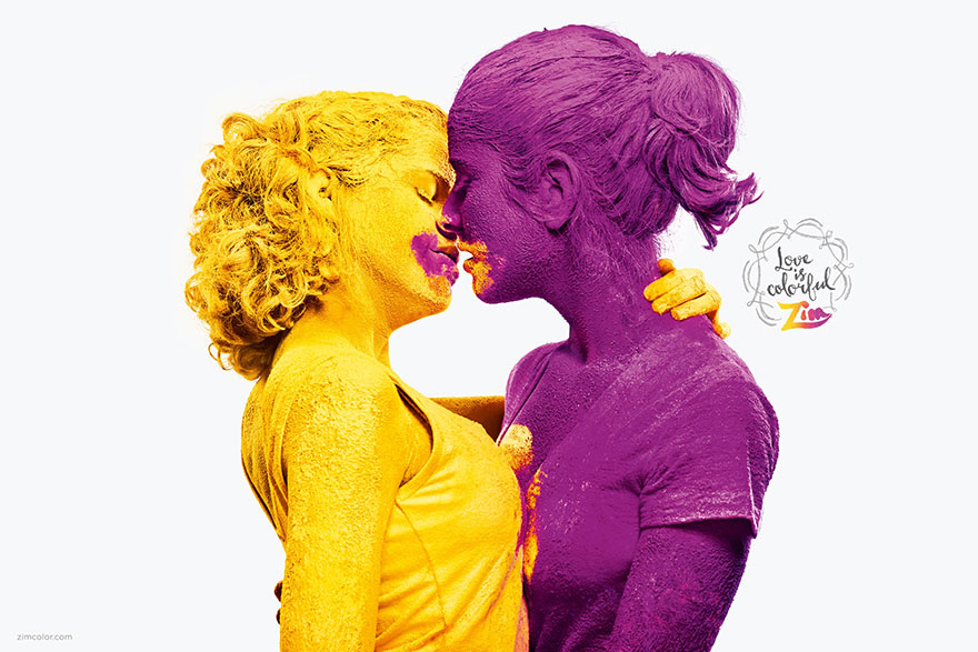 These are most inspiring, colorful kisses we've ever seen
