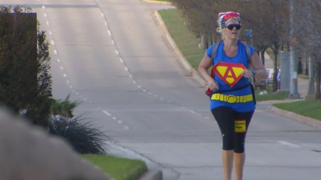 This teacher walked 20 miles dressed as a superhero. Here's why