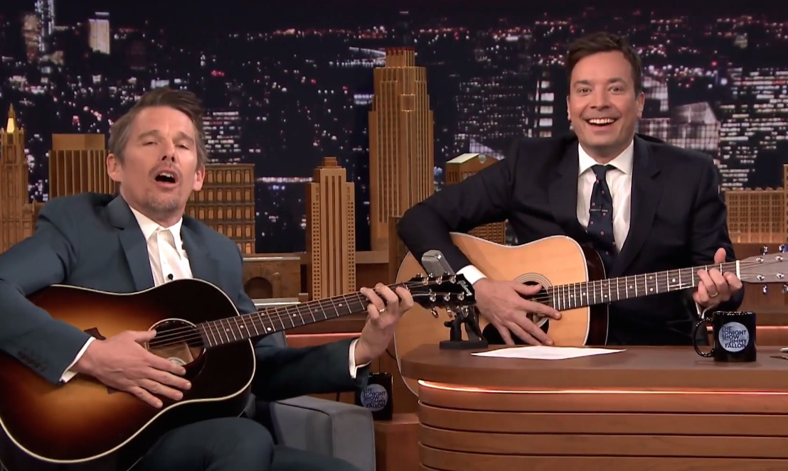 Please sing us lullabies every night, Ethan Hawke and Jimmy Fallon