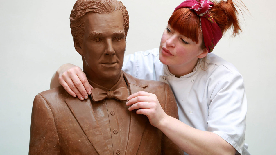A chocolate statue of Benedict Cumberbatch exists, because life